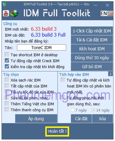 [Download] Tải IDM 6.33 Build 3 Kích Hoạt Tự Động Mới Nhất + Toolkit 3.9 - Hướng Dẫn Cài Đặt Chi Tiết - Fix Các Lỗi Thường Gặp 206-min