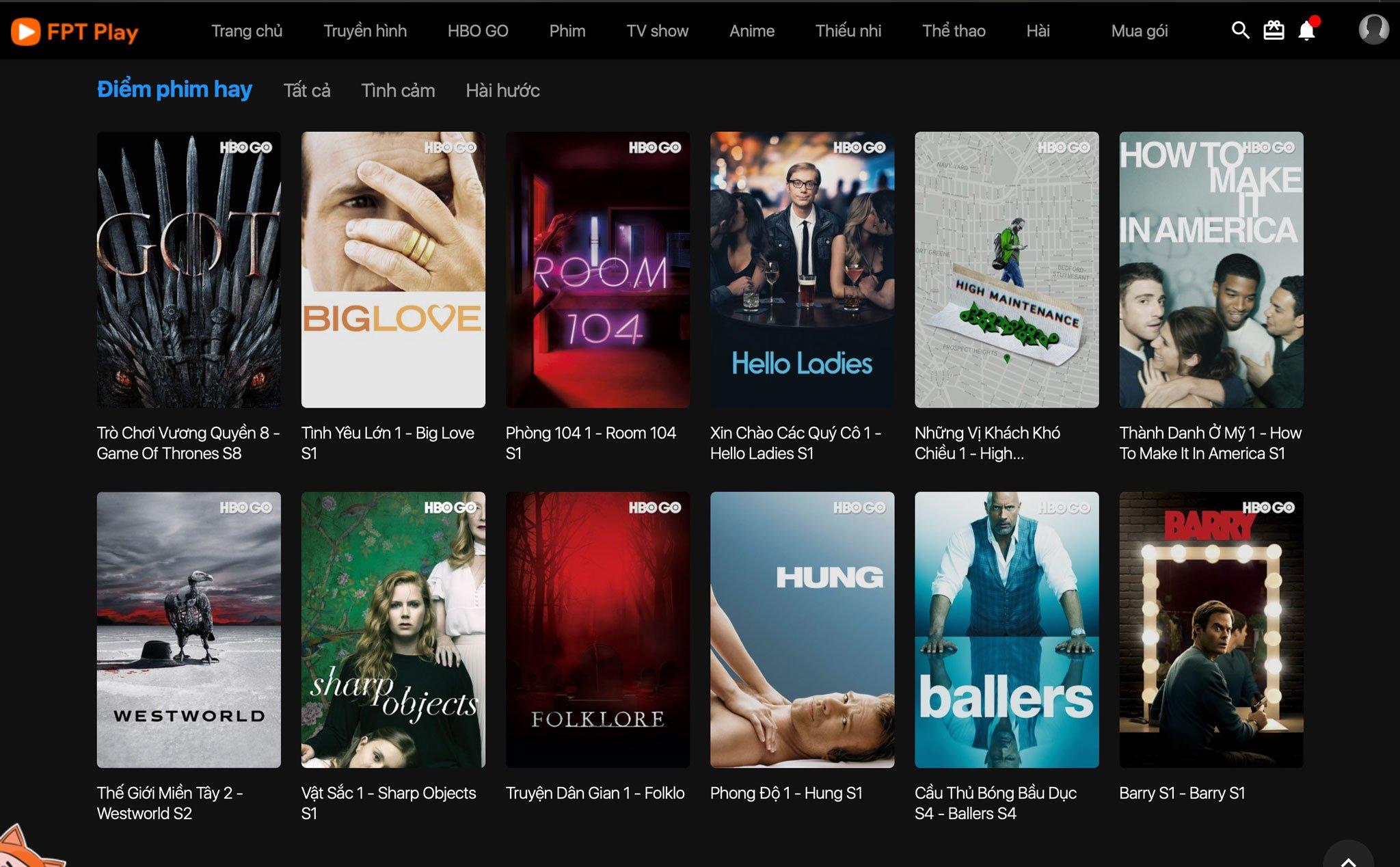 Phim của HBO GO đã có mặt trên FPT Play, đang cho xem thử miễn phí ...