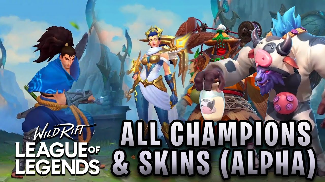 League of Legends: Wild Rift ALL 36 CHAMPIONS & SKINS CONFIRMED ...