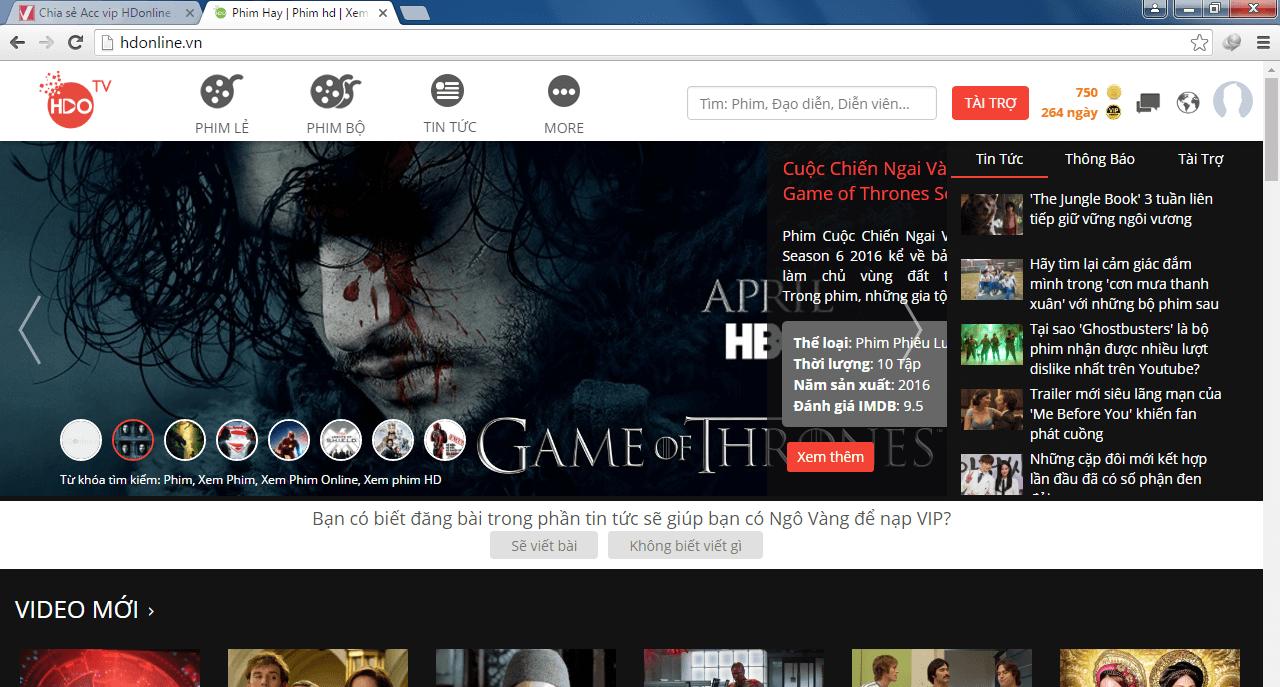 Cách xem phim HDOnline không quảng cáo, xem HDO miễn phí