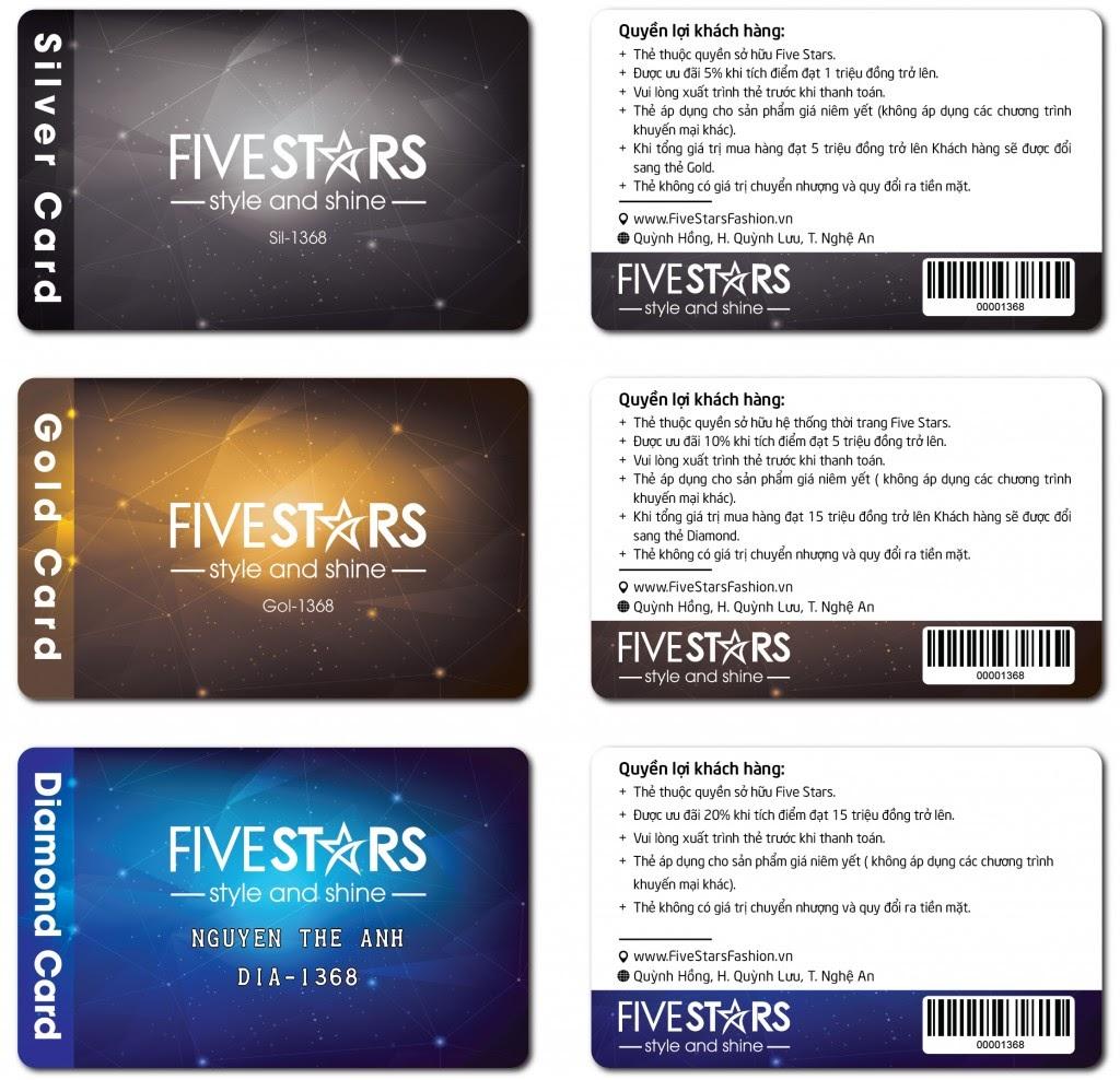 Thẻ thành viên Fivestar Fashion